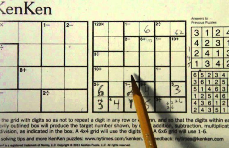 9 Killer Strategies for Solving Kenken Puzzles